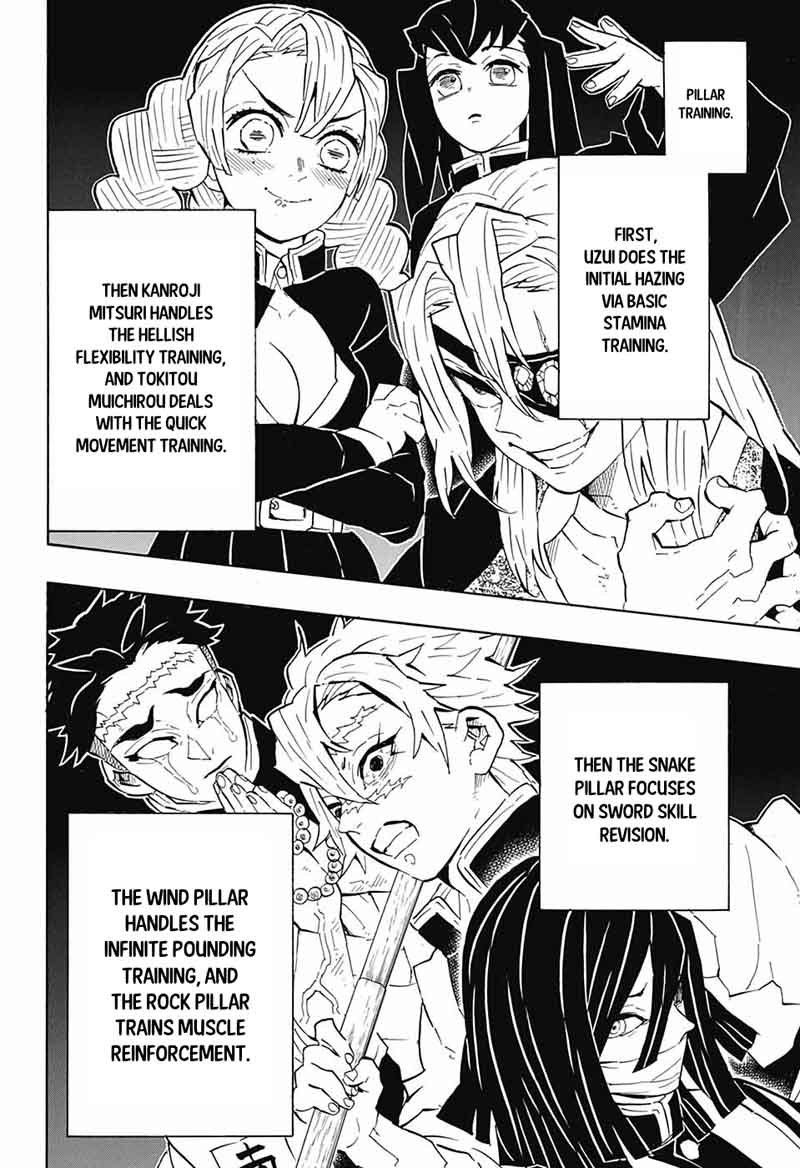 Demon Slayer Kimetsu No Yaiba Chapter 129 Demon Slayer Kimetsu No Yaiba Manga Kimetsu no yaiba officially coming to an end with the next chapter of the series later this week, the manga has confirmed all of the major deaths that shinobu and mitsuri get along well as they are the only two female hashira's of the demon slayer corps after kanae's death. demon slayer kimetsu no yaiba chapter