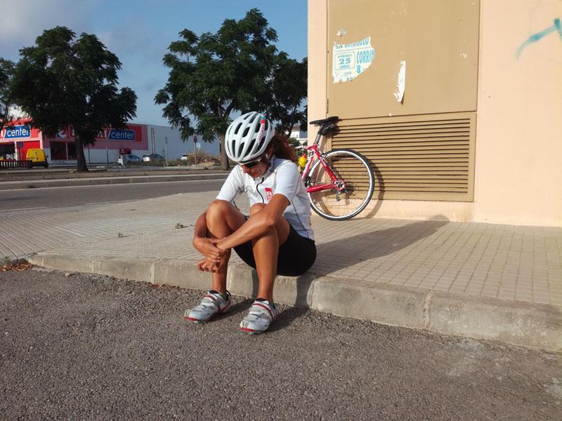 Ieri, in attesa di fare l'allenamento di bici