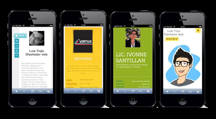 descargar app para crear tarjeta de presentación online portable