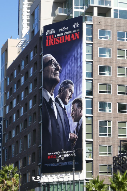Irishman Netflix film billboard