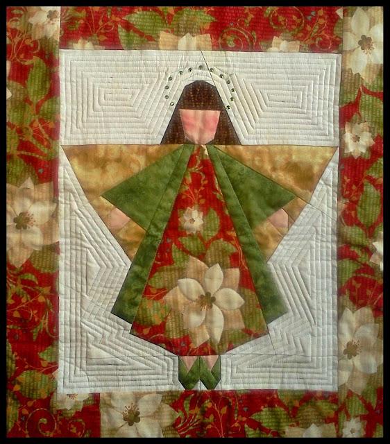 Angel Quilt Paper Pieced Angel Block