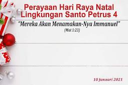 PERAYANAN NATAL 2020 DAN TAHUN BARU SECARA ONLINE LINGKUNGAN SANTO PETRUS 4