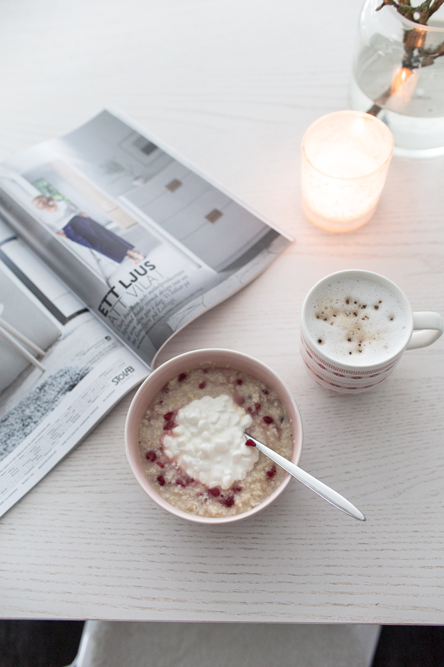aamupala, aamupuuro, kahvi
