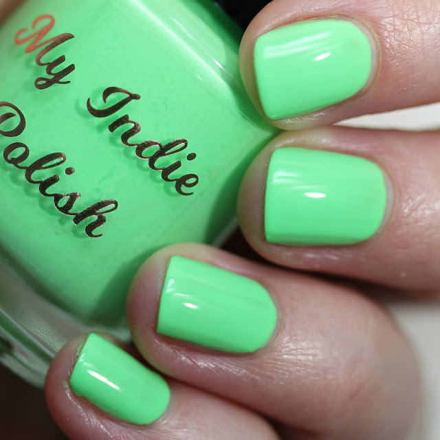 My Indie Polish Lime swatch