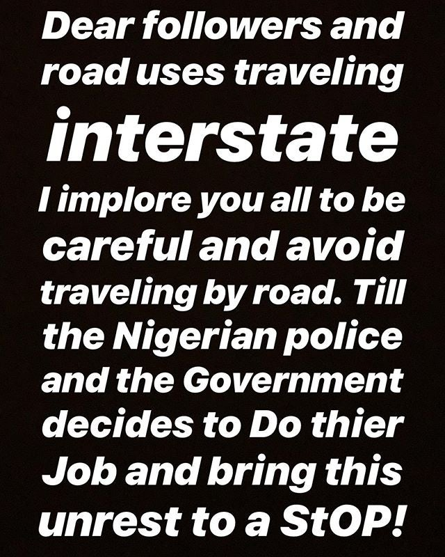 Actress, Ruth Kadiri, Advise Nigerians To Stop Traveling By Road Till Kidnappings, Killings Stop