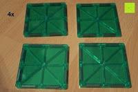 Quadrat grün: Playbees 100 Teile Magnetische Bausteine Set für 2D und 3D Form Konstruktionen, Regenbogenfarben Magnetspielzeug, Baukasten Magnetspiel, Magnetbausteine