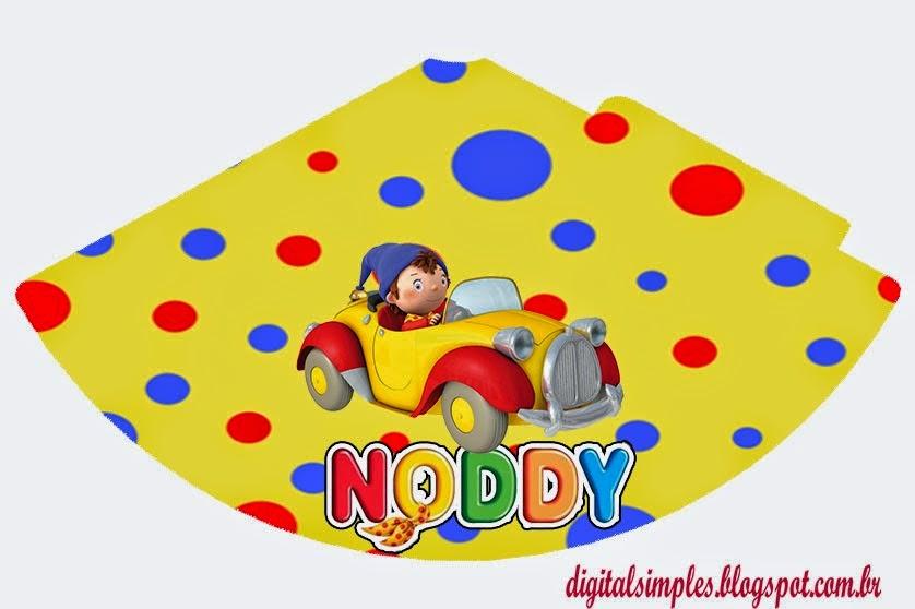 Gorros para imprimir gratis de Noddy.