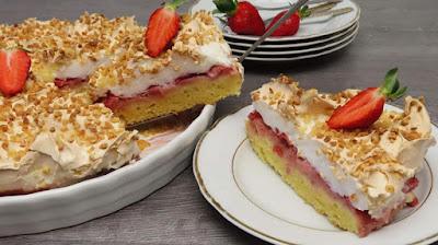 Jednostavna Torta s Jagodama | Easy Strawberry Cake