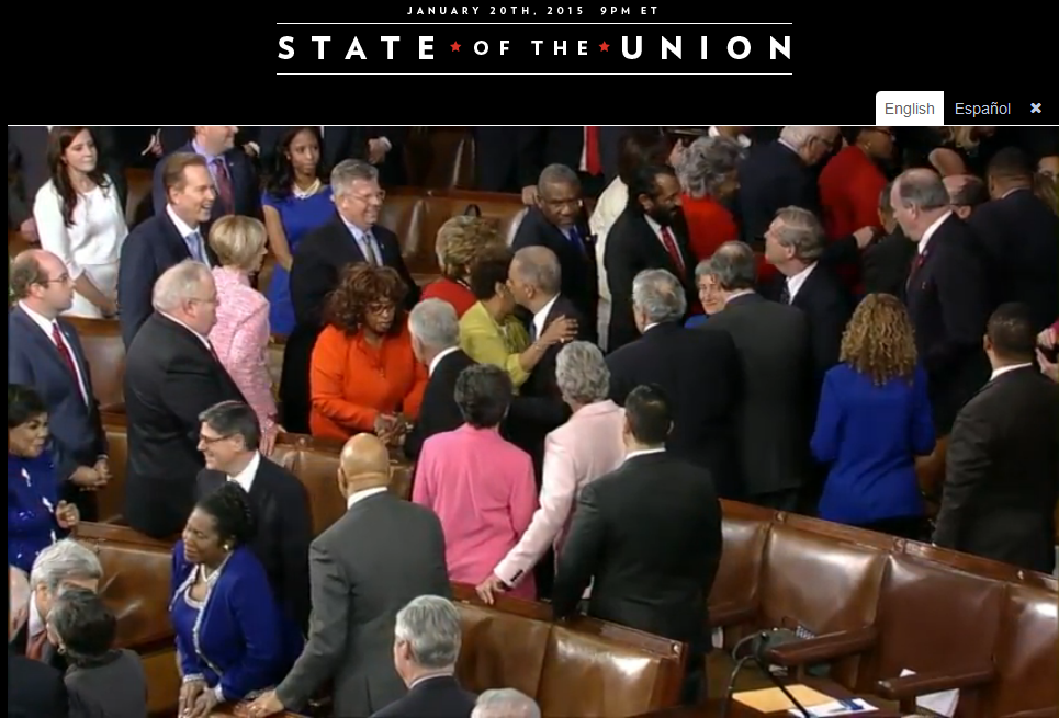 State of the Union 2015 Eric Holder walking
