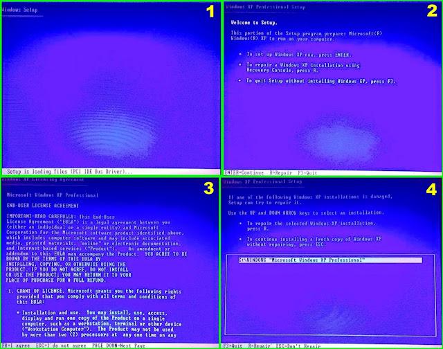 Tahap Awal Instalasi pada Window Xp