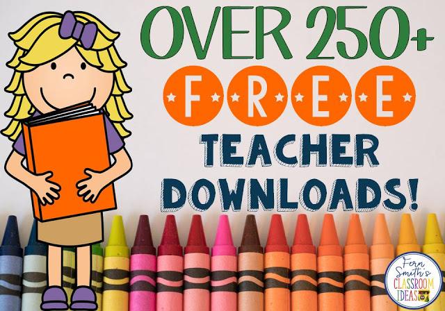 OVER 250 FREE TEACHER DOWNLOADS! #FernSmithsClassroomIdeas