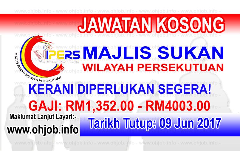 Jawatan Kerja Kosong Majlis Sukan Wilayah Persekutuan logo www.ohjob.info jun 2017