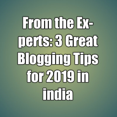 From the Experts: 3 Great Blogging Tips for 2019 in india