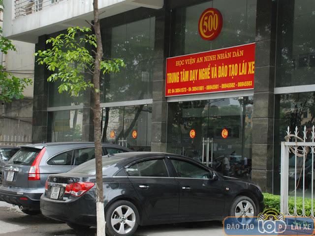 Trung tâm đào tạo lái xe C500 - Học Viện An Ninh Nhân Dân