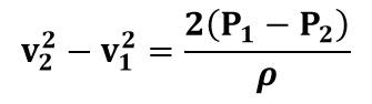 Diferencia de velocidades en tubo Venturi