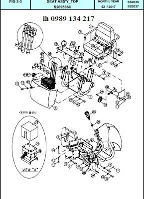 hệ điều khiển và ghế  cẩu Dongyang  8 tấn - SS2036-SS2037