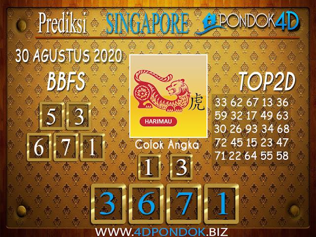 Prediksi Togel SINGAPORE PONDOK4D 30 AGUSTUS 2020