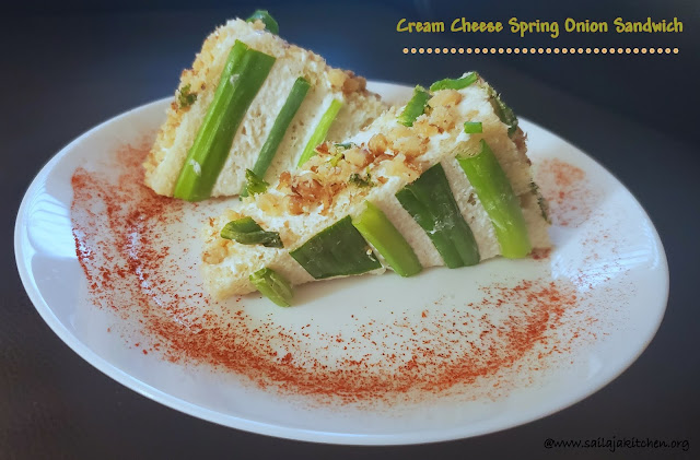images of Cream Cheese And Spring Onion Sandwich / Spring Onion Sandwich