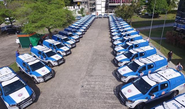Bahia: Governo entrega mais 49 viaturas para a PM e anuncia a convocação de 1,7 mil policiais militares