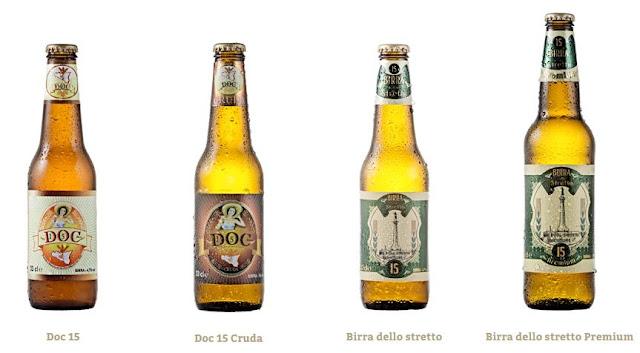 bottiglie di birra con etichetta Doc