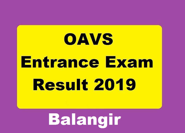 Adarsha Vidyalaya Entrance Result 2019 Balangir