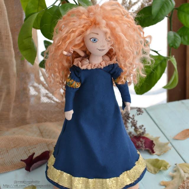 Мерида, Храбрая сердцем, принцесса Диснея, кукла ручной работы, текстиль, Merida, princess, disneyland