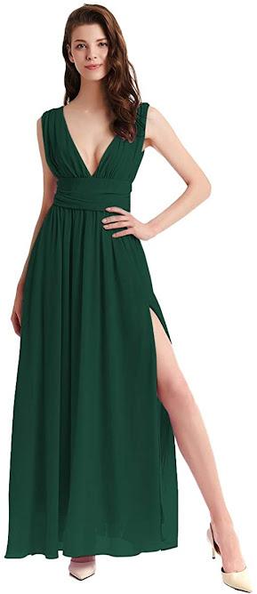 Beautiful Green Chiffon Bridesmaid Dresses