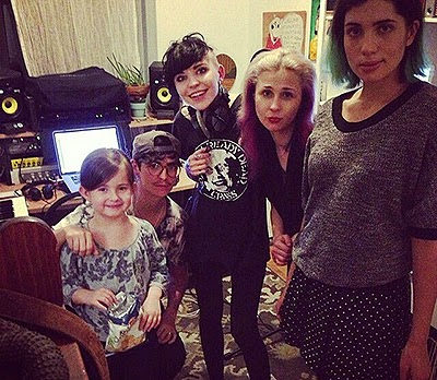 Le Tigre and Pussy Riot in the studio
