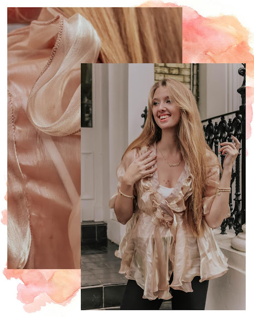 Nasty Gal sheer ruffle organza blouse