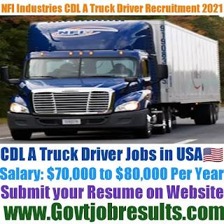 NFI Industries CDL A Truck Driver Recruitment 2021-22