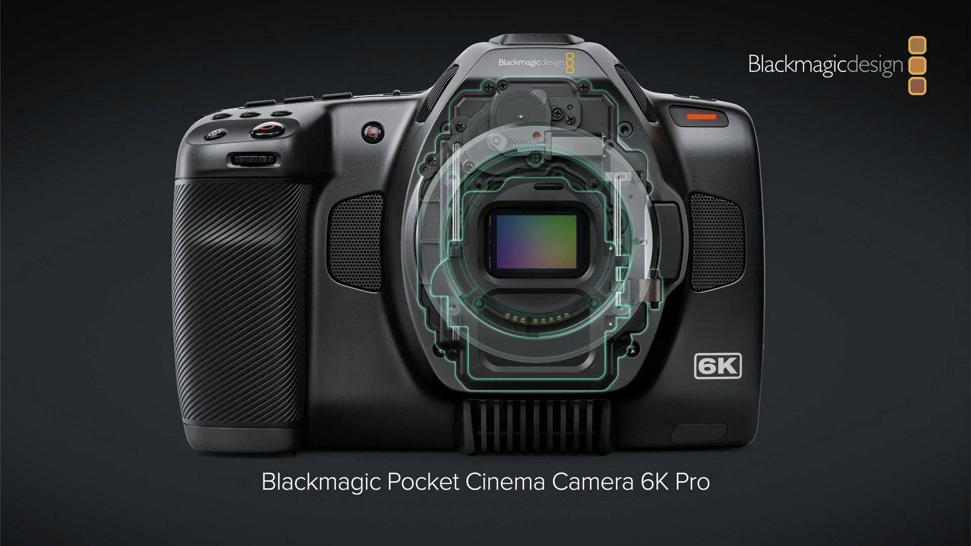 Механизм сменных ND-фильтров в камере Blackmagic Pocket Cinema Camera 6K Pro
