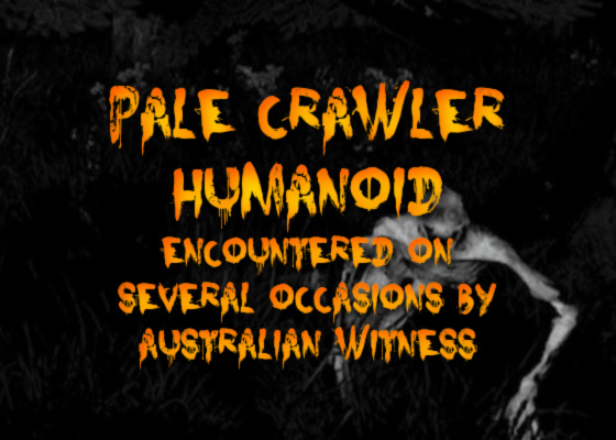 Pale Crawler Humanoid Encountered on Several Occasions by Australian Witness