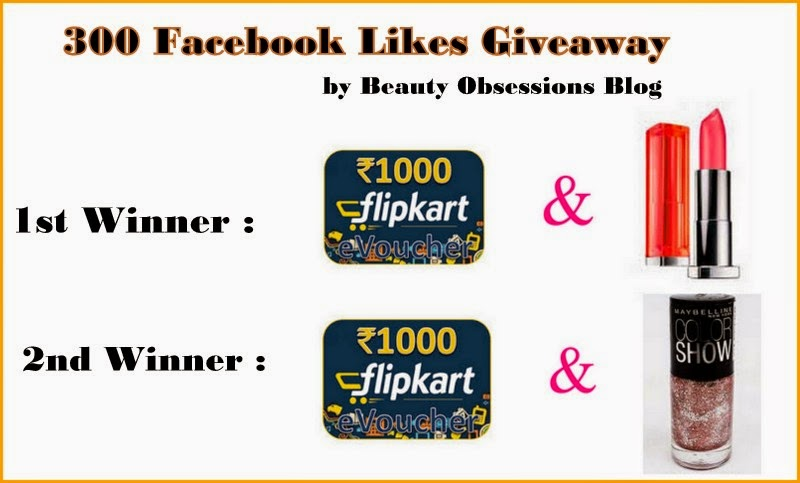 300 Facebook Likes Giveaway..!!