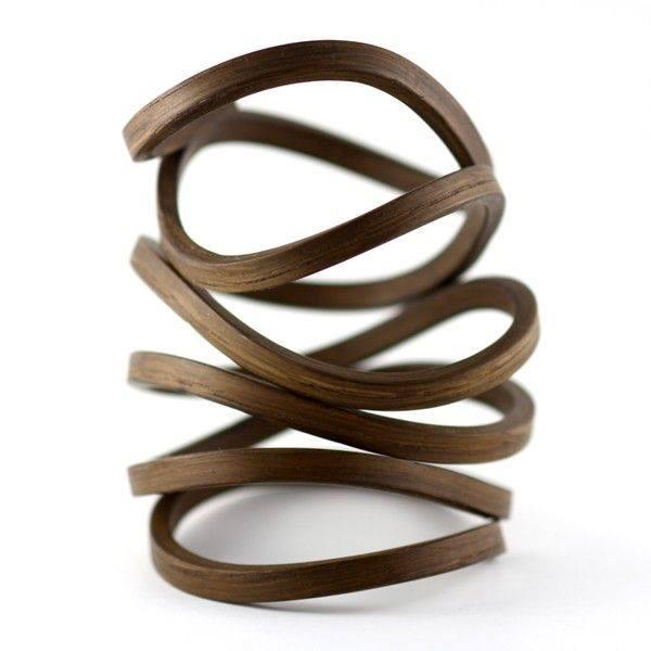 architectural wood bracelet