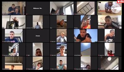 فيديو.. هكذا يتدرب لاعبين بايرن ميونخ خلال فترة العزل الصحي مع مدربهم
