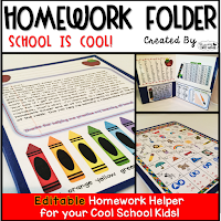 Homework Folders - School Theme