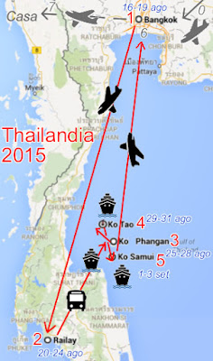 thailandia 2015 mappa