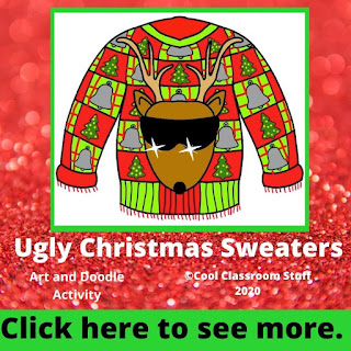 Elementary student drawing of an ugly Christmas sweater