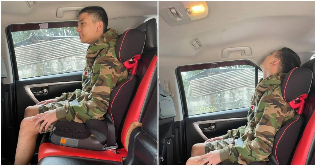 Photos of 11-year-old kid on booster seat go viral