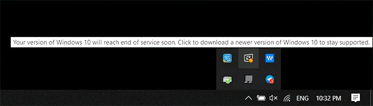 Your version of Windows 10 will reach end of service soon