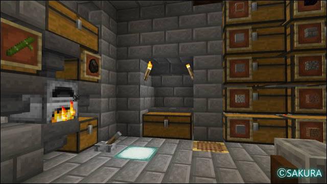 Minecraft 自動仕分け倉庫のアイテム投入口