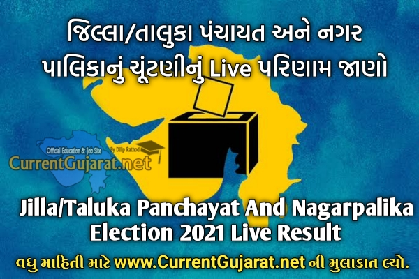 Gujarat Local Body Election 2021 Live Result Updates | Gujarat Jilla/Taluka Panchayat Election 2021 Live Result | Gujarat Nagarpalika Election 2021 Live Result