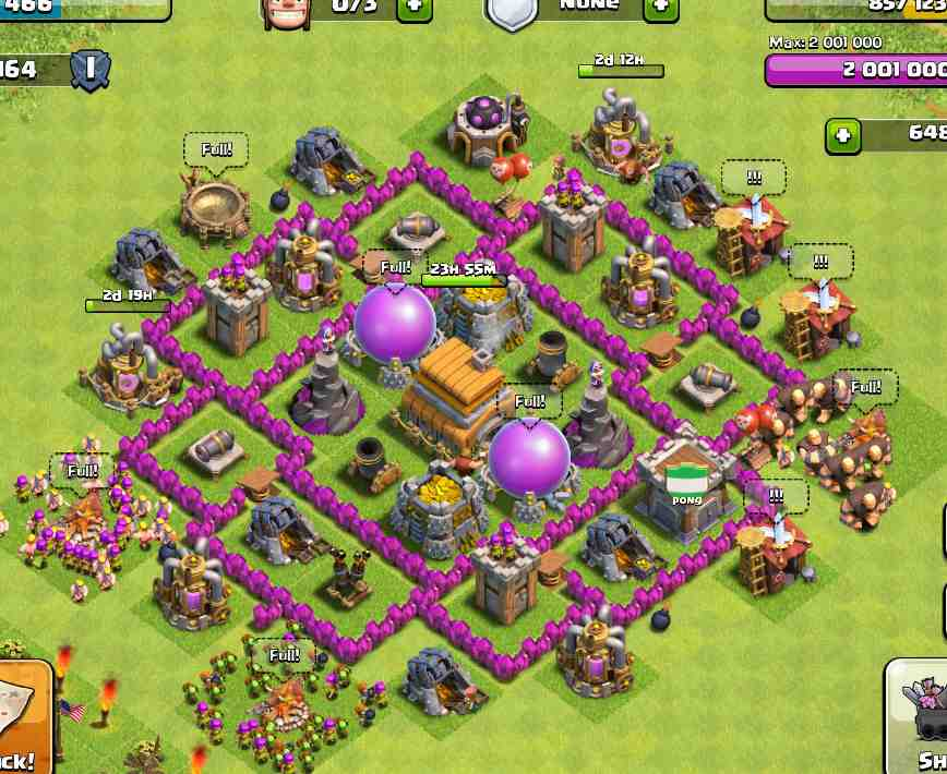 Base Coc Th 6 War Terkuat Di Dunia 10
