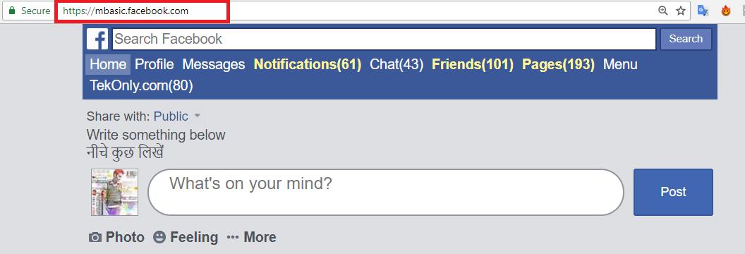 Mbasic facebook login mobile