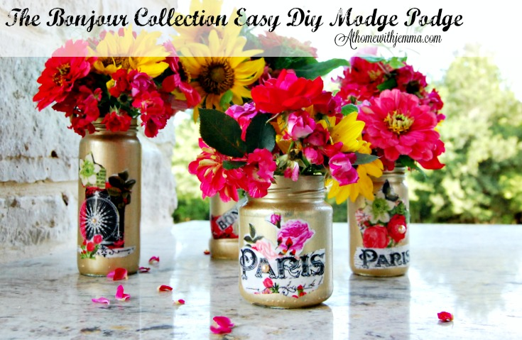 The Bonjour Collectioneasy Diy Modge Podge Vases At Home With Jemma