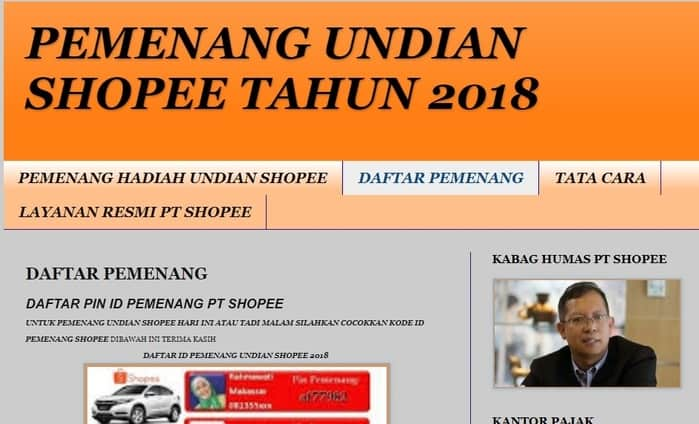 Campur News Penipuan Undian Shoppe Lewat Pesan Sms