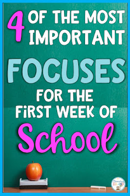 Looking for what to do the first week of school?  These are my top 4 focuses for the first week of school.  Don't get caught going over rules the boring way.  Reach your students through fun and get to know them!