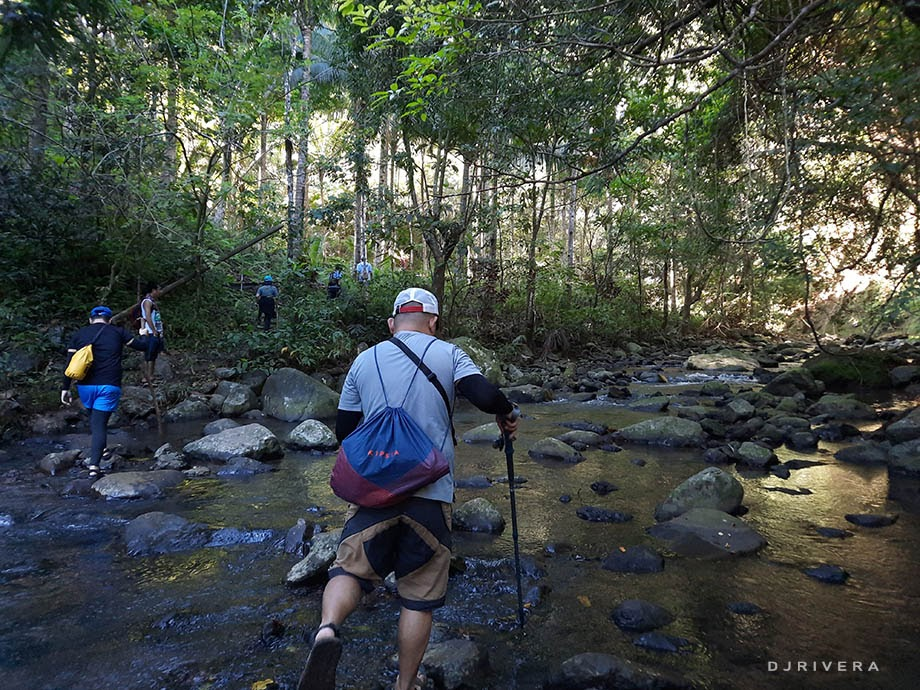 River crossings while hiking Mt. Romelo