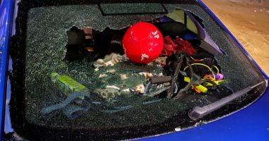 بالصور.. أيمن أشرف يتعرض لحادث سير
