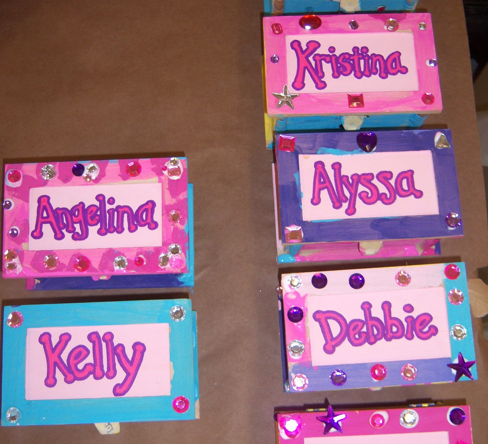 Its ALL Good in Mommyhood Girls Birthday Party Idea Jewelry Boxes